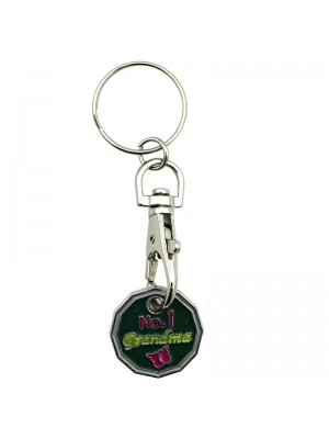 Trolley Coin Keyrings - No. 1 Grandma