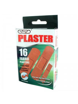 GSD Fabric Plasters (16 x 24 packs)- EXP 04/04/2021