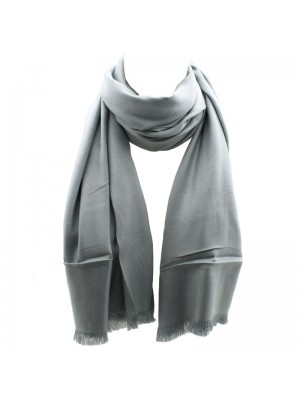 Ladies' Pashmina Style Scarves With Tassels  - Light Grey