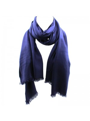 Ladies' Pashmina Style Scarves With Tassels  - Dark Blue