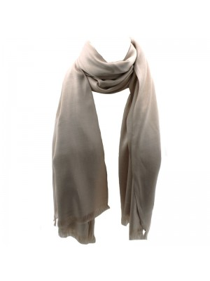Ladies' Pashmina Style Scarves With Tassels  - Cream