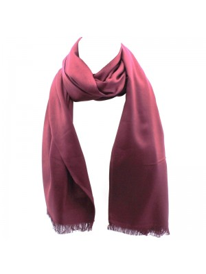 Ladies' Pashmina Style Scarves With Tassels  - Burgundy