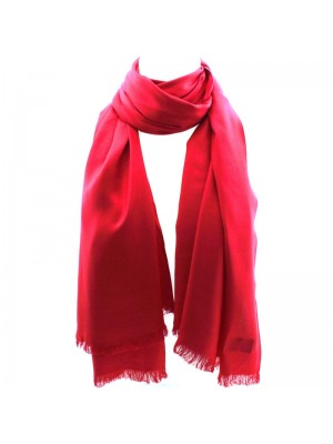 Ladies' Pashmina Style Scarves With Tassels - Red