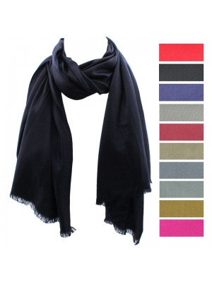 Ladies' Pashmina Style Scarves With Tassels  - Assorted Colours