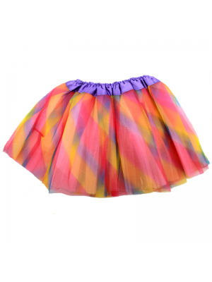 Children's Rainbow Net Tutu skirt