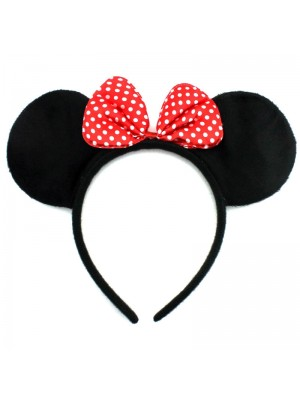 Minnie Mouse Headband With Polka Dot Red Bow