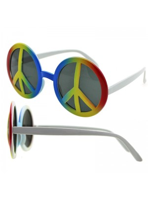 Unisex Rainbow Peace Sign Sunglasses