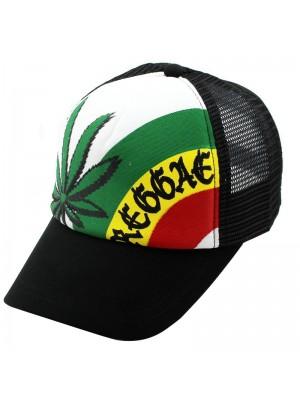 Reggae Rasta Baseball Cap - Black
