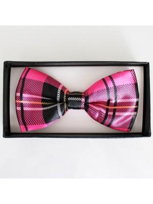 Tartan Bow Tie- Pink