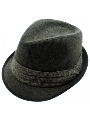Men's Grey Trilby With Band - Assorted Sizes