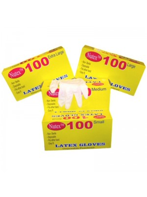 Disposable Latex Powdered Gloves - 100 Pairs