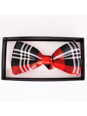 Tartan Bow Tie-  Red