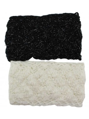 Knitted Wool Headbands In Assorted Colours-15cm Wide