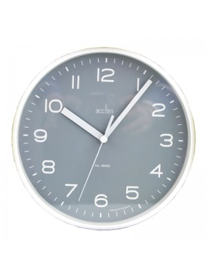 Acctim Runwell Wall Clock - White With Grey Dial
