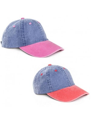 Adults Unisex Washed Baseball Cap - Assorted Colours