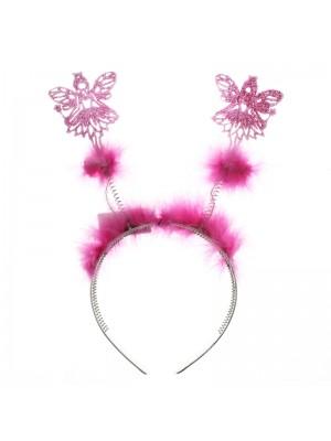 Angel Design Deely Bopper With Fur - Pink