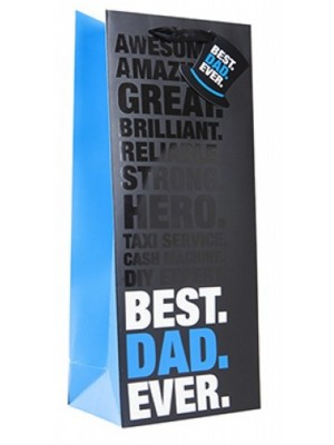 Best Dad Ever Bottle Bag With Gift Tag