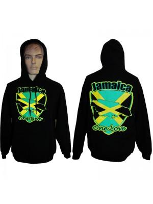 Black Jamaica One Love Hoodie