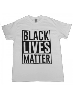 "White ""Black Lives Matter"" Printed T-shirt"
