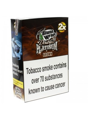 Blunt Wrap Double Platinum 2x - Brown (Chocolate)