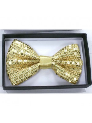 Sequin Bow Ties - Gold