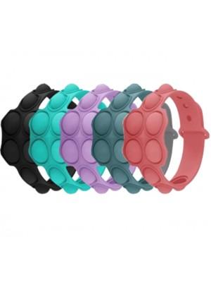 Push/Pop Bubble Sensory Fidget Decompression Wristbands - Assorted Colours