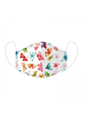 Adults Butteryfly Print Reusable Face Covering Mask