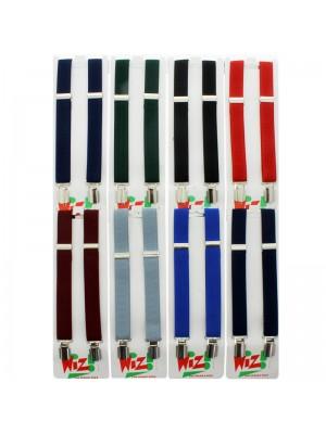 Children's Braces Plain Basic Colours Assortment (25mm)