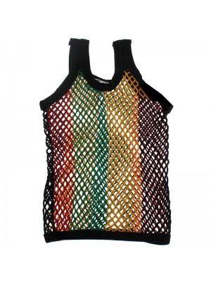 Children's String Vest - Rasta Colours (Assorted Sizes)