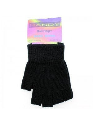 Childrens Fingerless Magic Gloves - Black