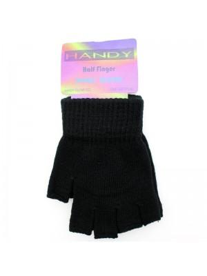 Childrens Fingerless Magic Gloves - Black