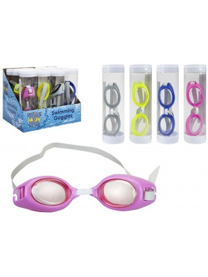 Clear Lens Swimming Goggles - Assorted Colours