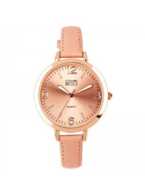 Eton Ladies Faux Strap Watch - Blush/Rose Gold