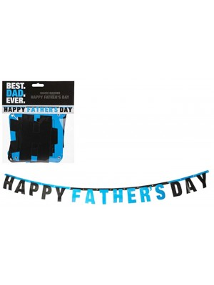 Happy Fathers Day Best Dad Ever Card Banner - 180cm