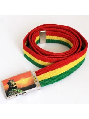 Men's Canvas Belt - HIM Haile Selassie I Ethiopian Emperor