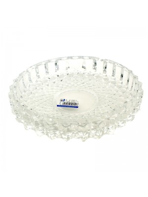 Qianli Natural Type Round Glass Ashtray Clear - 19cm