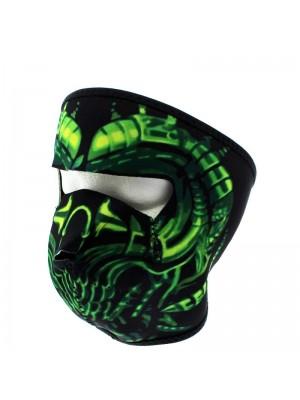Reusable Face Covering Mask-Green Alien