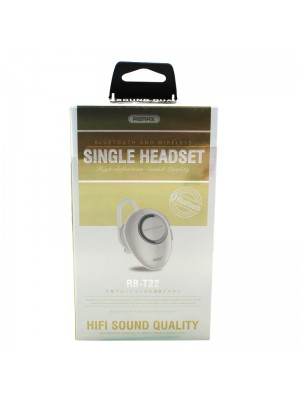 Remax Bluetooth Single Headset RB-T22 - White