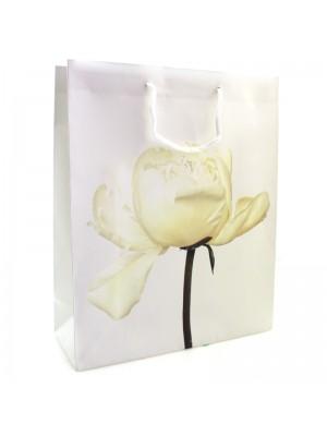 Cream Petal Flower Gift Bag (32 x 26 x 10)