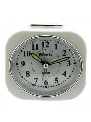 Ravel Quartz Alarm Clock - White