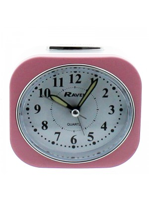 Ravel Quartz Alarm Clock - Pink