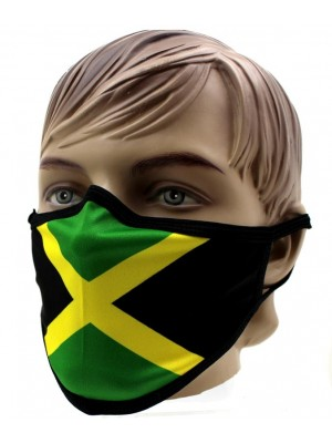 Adults Reusable Face Covering Mask- Jamaican Flag Print(Without Pleats)