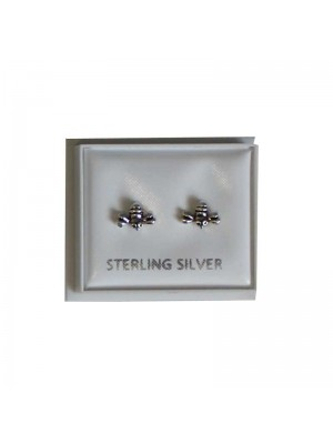 Sterling Silver Bee Studs - Approx 6mm
