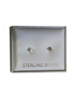 Sterling Silver Triangle Studs - Approx 3mm