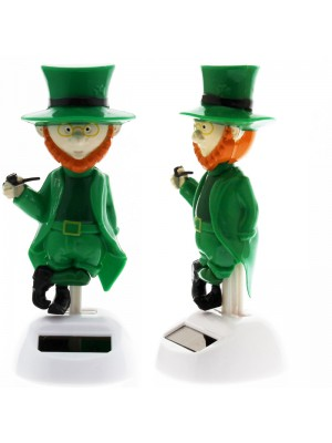 Irish Leprechaun Solar Powered Figurine