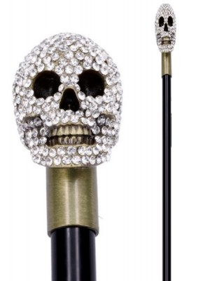 Jewelled Grin Swaggering Cane (Walking Stick) - 95cm