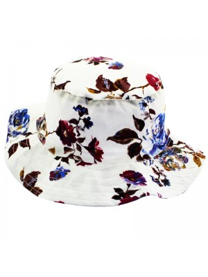 Ladies Floral Print Bucket Hat