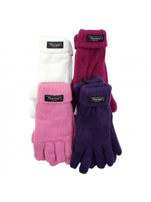 Ladies Knitted 3M Thinsulate Insulation Gloves - Assorted Colours