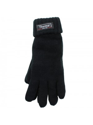 Ladies Knitted 3M Thinsulate Insulation Gloves - Black
