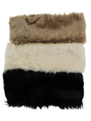 Ladies Soft Faux Fur Fabric Headband in Assorted Colours-10cm